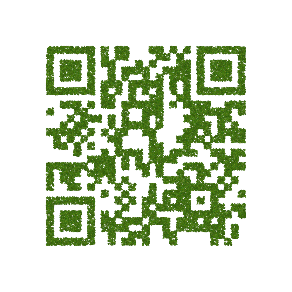 Fig. 8: QR Code made from Ivy Leaves